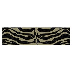 Skin2 Black Marble & Khaki Fabric (r) Satin Scarf (oblong) by trendistuff
