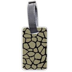Skin1 Black Marble & Khaki Fabric (r) Luggage Tags (two Sides) by trendistuff