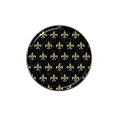 Royal1 Black Marble & Khaki Fabric Hat Clip Ball Marker (10 Pack) by trendistuff