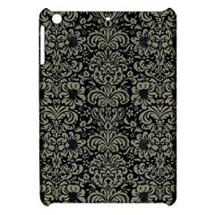 Damask2 Black Marble & Khaki Fabric (r) Apple Ipad Mini Hardshell Case by trendistuff