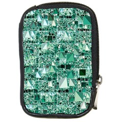 Modern Geo Fun, Teal Compact Camera Cases by MoreColorsinLife