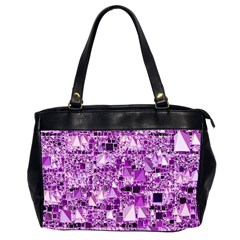 Modern Geo Fun,lilac Office Handbags (2 Sides)  by MoreColorsinLife