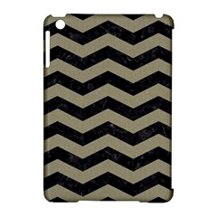Chevron3 Black Marble & Khaki Fabric Apple Ipad Mini Hardshell Case (compatible With Smart Cover) by trendistuff