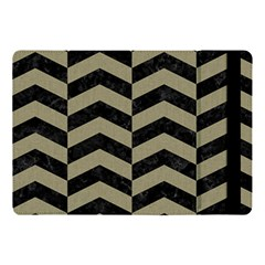 Chevron2 Black Marble & Khaki Fabric Apple Ipad Pro 10 5   Flip Case by trendistuff