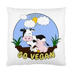 Friends Not Food   Cute Pig And Chicken Standard Cushion Case (one Side) by Valentinaart
