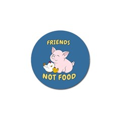 Friends Not Food   Cute Pig And Chicken Golf Ball Marker (10 Pack) by Valentinaart