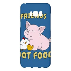 Friends Not Food   Cute Pig And Chicken Samsung Galaxy S8 Plus Hardshell Case  by Valentinaart