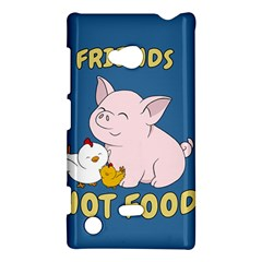 Friends Not Food   Cute Pig And Chicken Nokia Lumia 720 by Valentinaart