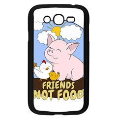 Friends Not Food   Cute Pig And Chicken Samsung Galaxy Grand Duos I9082 Case (black) by Valentinaart