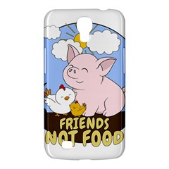 Friends Not Food   Cute Pig And Chicken Samsung Galaxy Mega 6 3  I9200 Hardshell Case by Valentinaart