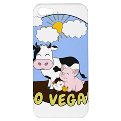 Friends Not Food   Cute Cow, Pig And Chicken Apple Iphone 5 Hardshell Case by Valentinaart
