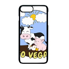 Friends Not Food   Cute Cow, Pig And Chicken Apple Iphone 7 Plus Seamless Case (black) by Valentinaart