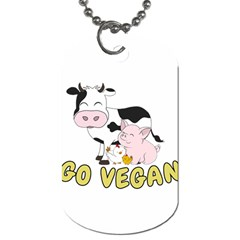 Friends Not Food   Cute Cow, Pig And Chicken Dog Tag (two Sides) by Valentinaart