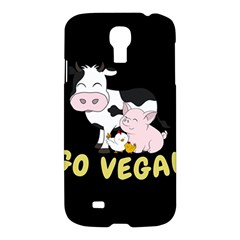 Friends Not Food   Cute Cow, Pig And Chicken Samsung Galaxy S4 I9500/i9505 Hardshell Case by Valentinaart