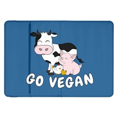 Friends Not Food   Cute Cow, Pig And Chicken Samsung Galaxy Tab 8 9  P7300 Flip Case by Valentinaart