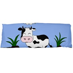 Friends Not Food   Cute Cow Body Pillow Case Dakimakura (two Sides) by Valentinaart