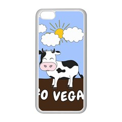 Friends Not Food   Cute Cow Apple Iphone 5c Seamless Case (white) by Valentinaart
