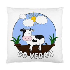 Friends Not Food   Cute Cow Standard Cushion Case (one Side) by Valentinaart