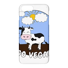 Friends Not Food   Cute Cow Apple Iphone 7 Plus Hardshell Case by Valentinaart