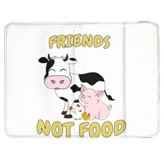 Friends Not Food   Cute Cow, Pig And Chicken Samsung Galaxy Tab 7  P1000 Flip Case by Valentinaart