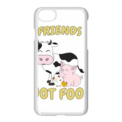 Friends Not Food   Cute Cow, Pig And Chicken Apple Iphone 7 Seamless Case (white) by Valentinaart
