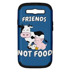 Friends Not Food   Cute Cow, Pig And Chicken Samsung Galaxy S Iii Hardshell Case (pc+silicone) by Valentinaart