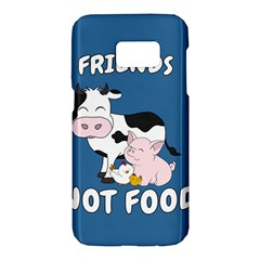 Friends Not Food   Cute Cow, Pig And Chicken Samsung Galaxy S7 Hardshell Case  by Valentinaart