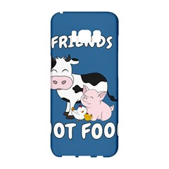 Friends Not Food   Cute Cow, Pig And Chicken Samsung Galaxy S8 Hardshell Case  by Valentinaart