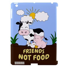 Friends Not Food   Cute Cow, Pig And Chicken Apple Ipad 3/4 Hardshell Case (compatible With Smart Cover) by Valentinaart