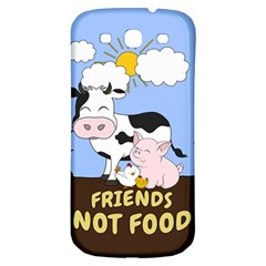 Friends Not Food   Cute Cow, Pig And Chicken Samsung Galaxy S3 S Iii Classic Hardshell Back Case by Valentinaart