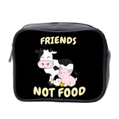 Friends Not Food   Cute Cow, Pig And Chicken Mini Toiletries Bag 2 Side by Valentinaart