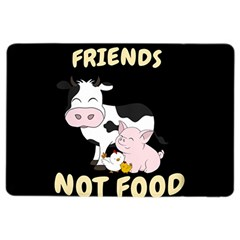 Friends Not Food   Cute Cow, Pig And Chicken Ipad Air 2 Flip by Valentinaart