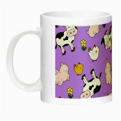 The Farm Pattern Night Luminous Mugs by Valentinaart