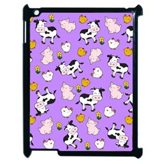 The Farm Pattern Apple Ipad 2 Case (black) by Valentinaart