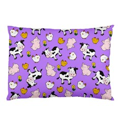 The Farm Pattern Pillow Case (two Sides) by Valentinaart