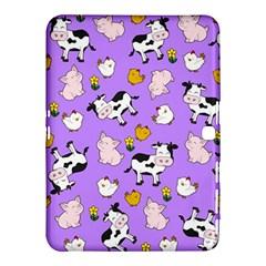 The Farm Pattern Samsung Galaxy Tab 4 (10 1 ) Hardshell Case  by Valentinaart