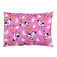 The Farm Pattern Pillow Case by Valentinaart