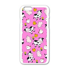 The Farm Pattern Apple Iphone 6/6s White Enamel Case by Valentinaart
