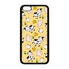 The Farm Pattern Apple Iphone 5c Seamless Case (black) by Valentinaart