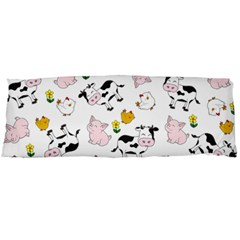 The Farm Pattern Body Pillow Case (dakimakura) by Valentinaart