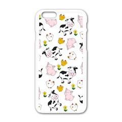 The Farm Pattern Apple Iphone 6/6s White Enamel Case by Valentinaart