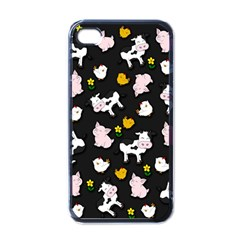 The Farm Pattern Apple Iphone 4 Case (black) by Valentinaart