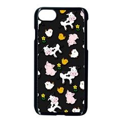 The Farm Pattern Apple Iphone 7 Seamless Case (black) by Valentinaart