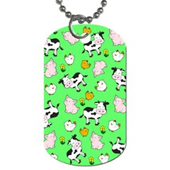 The Farm Pattern Dog Tag (two Sides) by Valentinaart