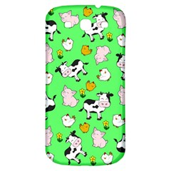 The Farm Pattern Samsung Galaxy S3 S Iii Classic Hardshell Back Case by Valentinaart