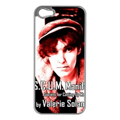 Valerie Solanas Apple Iphone 5 Case (silver) by Valentinaart