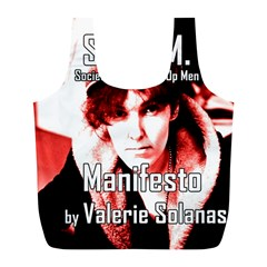 Valerie Solanas Full Print Recycle Bags (l)  by Valentinaart