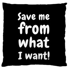 Save Me From What I Want Large Flano Cushion Case (one Side) by Valentinaart