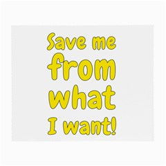 Save Me From What I Want Small Glasses Cloth by Valentinaart