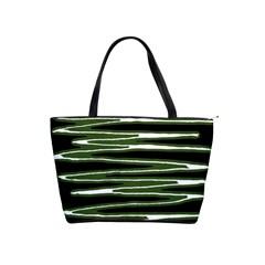 Sketched Wavy Stripes Pattern Shoulder Handbags by dflcprints